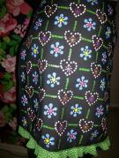 Eerste proeflapje verwerkt in een rok.