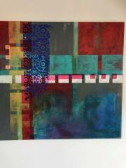 Acryl op doek patroon 70x100