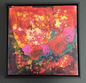 Acrylic on goldleave