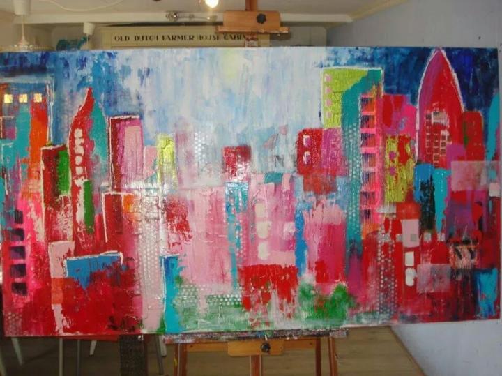 Schilderij op maat 100x180cm