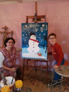 ouder&kind schilderen